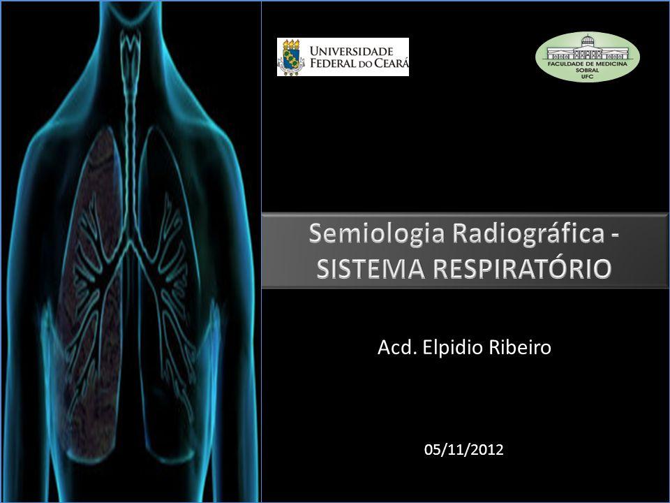 IMAGEM RADIOGRÁFICA DO SISTEMA RESPIRATÓRIO Análise de Radiografia de tórax 1)Averiguar parâmetros técnicos (DIC) o Dose da radiação o Inspiração o Centralização
