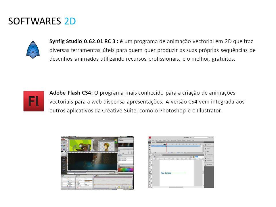SOFTWARES 2D Synfig Studio 0.62.01 RC 3 : é um programa de animação vectorial em 2D que traz diversas ferramentas úteis para quem quer produzir as sua
