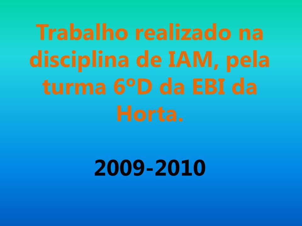 Trabalho realizado na disciplina de IAM, pela turma 6ºD da EBI da Horta. 2009-2010
