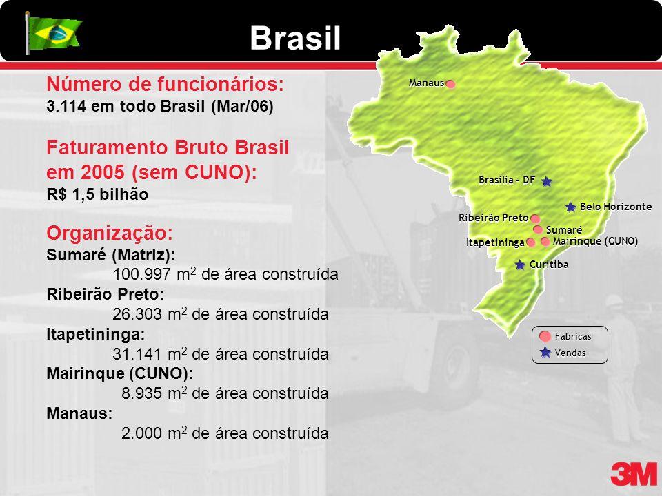 Itapetininga Sumaré Ribeirão Preto Belo Horizonte Curitiba Brasília - DF Fábricas Vendas Fábricas Vendas Número de funcionários: 3.114 em todo Brasil
