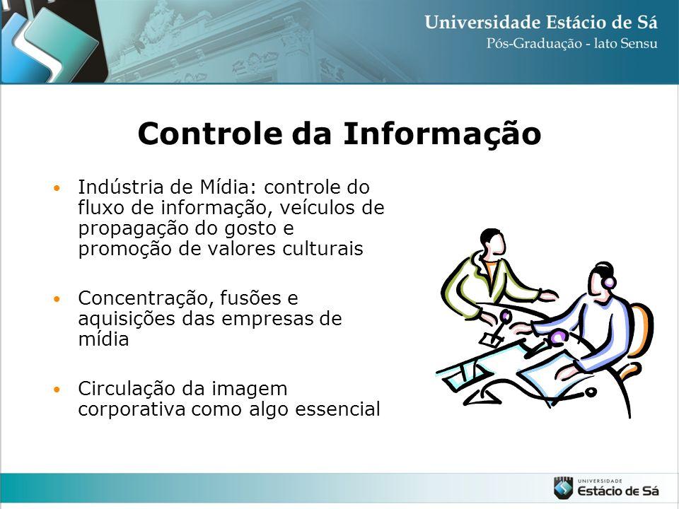 Ênfase na Informação Inteligência competitiva: controle, análise de dados para tomada de decisões Acesso privilegiado a informação no mercado financei