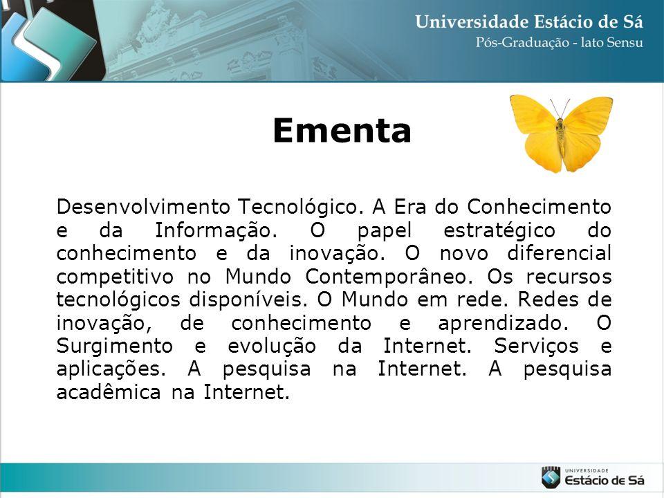 Desenvolvimento Tecnológico.A Era do Conhecimento e da Informação.