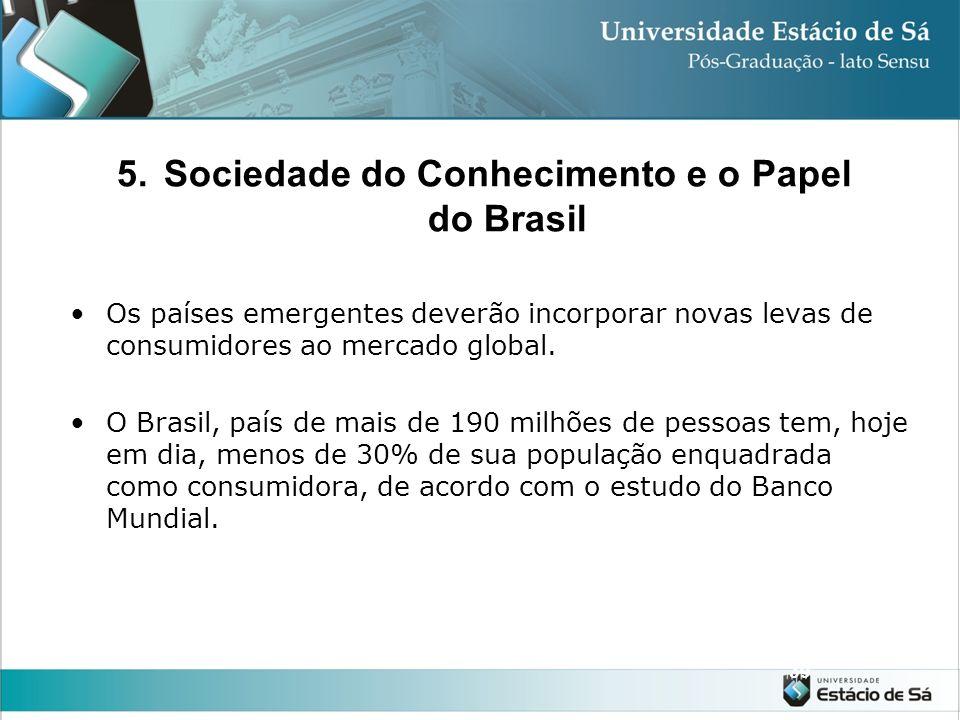 38 Em 1996 o banco Mundial publicou um estudo apontando os chamados Mercados Emergentes: países e regiões que terão aumentado sua participação no merc