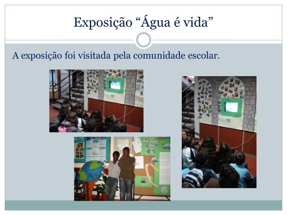 Exposição Água é vida A exposição foi visitada pela comunidade escolar.
