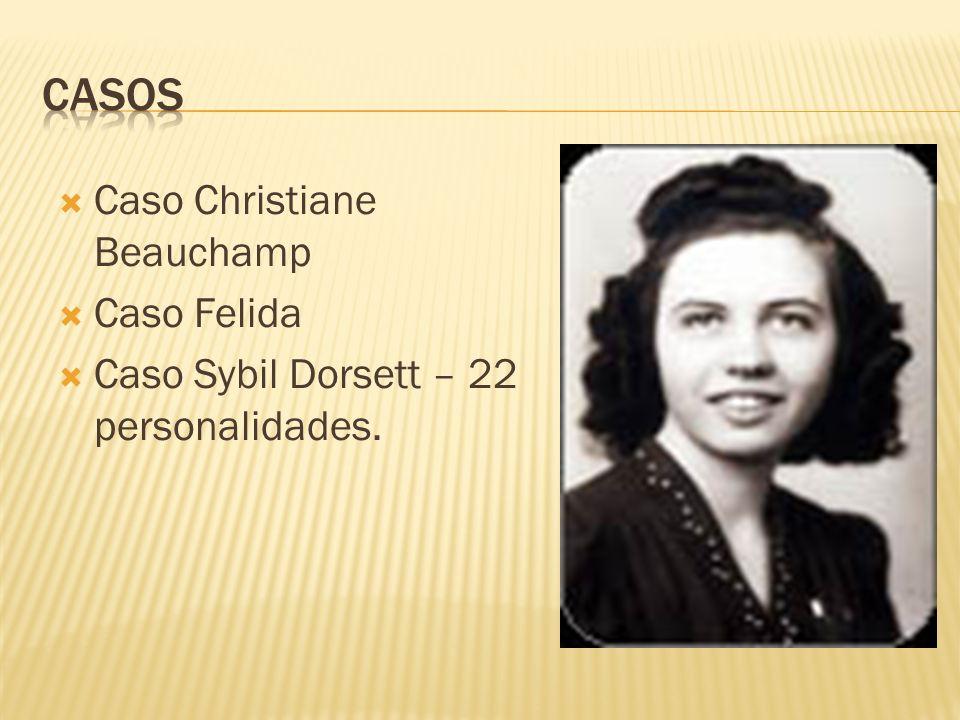 Caso Christiane Beauchamp Caso Felida Caso Sybil Dorsett – 22 personalidades.