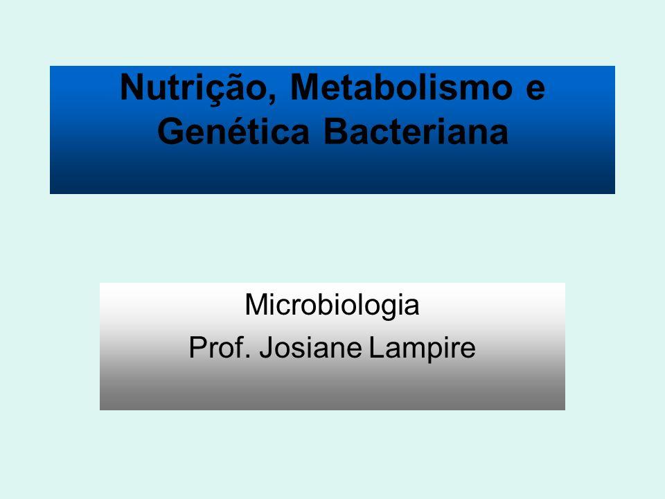 Nutrição, Metabolismo e Genética Bacteriana Microbiologia Prof. Josiane Lampire