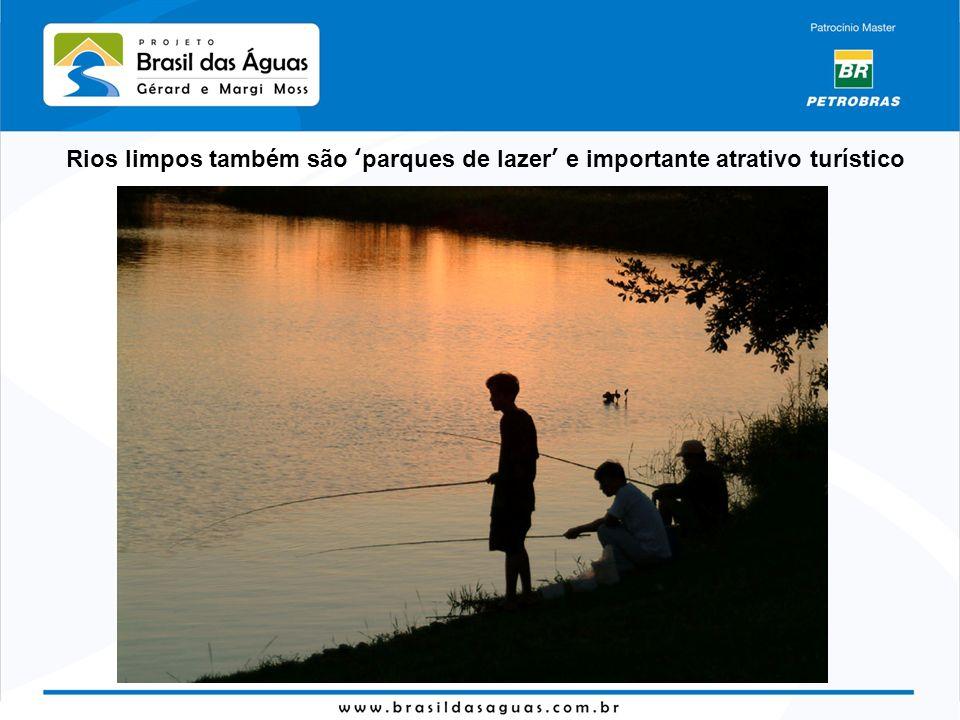 Rios limpos também são parques de lazer e importante atrativo turístico