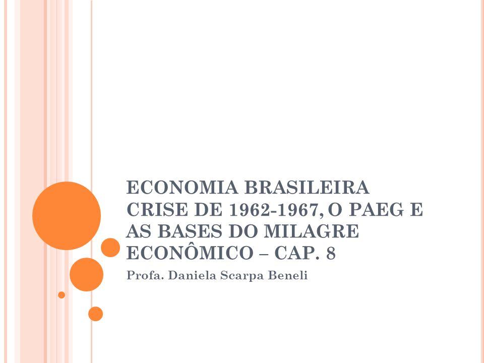 ECONOMIA BRASILEIRA CRISE DE 1962-1967, O PAEG E AS BASES DO MILAGRE ECONÔMICO – CAP.