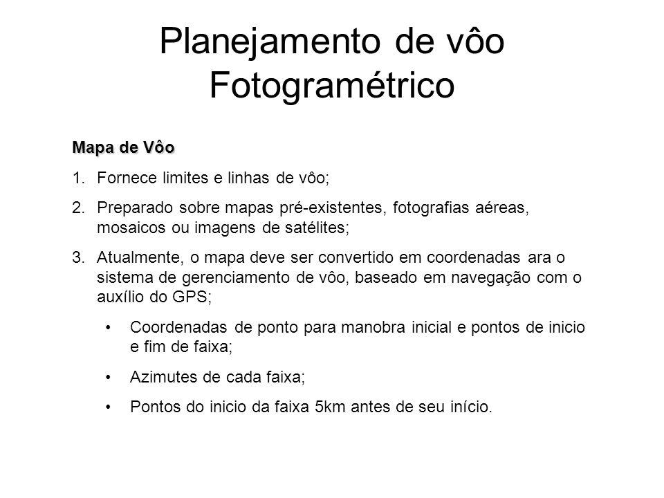 Planejamento de vôo Fotogramétrico E = E1 + D*sen(Az) N = N1 + D*cos(Az)