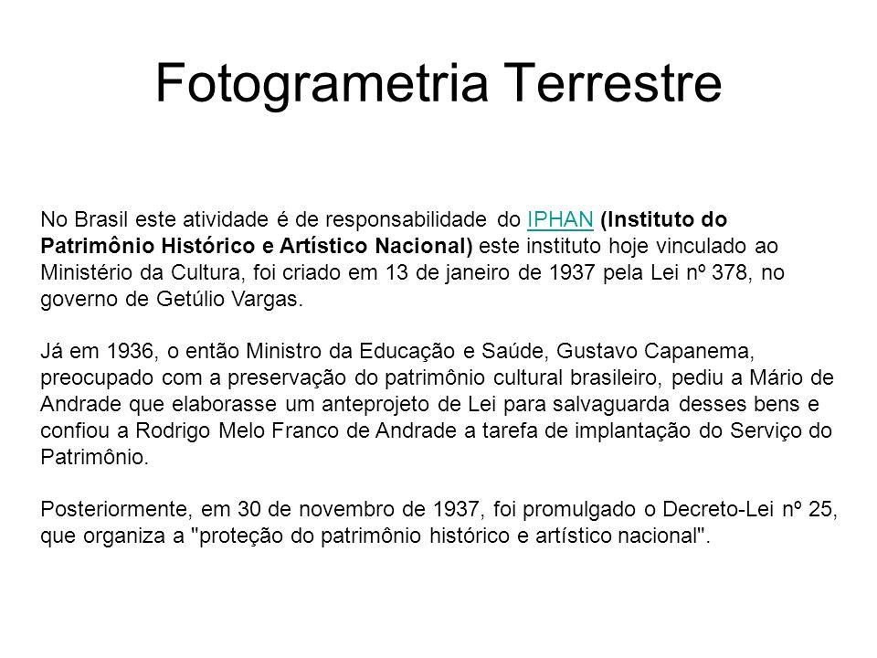 Fotogrametria Terrestre Arquivo histórico