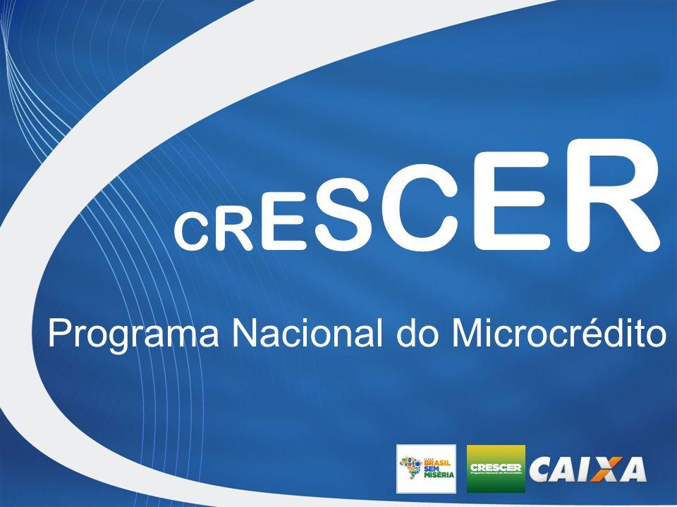 C R E S C E R Programa Nacional do Microcrédito