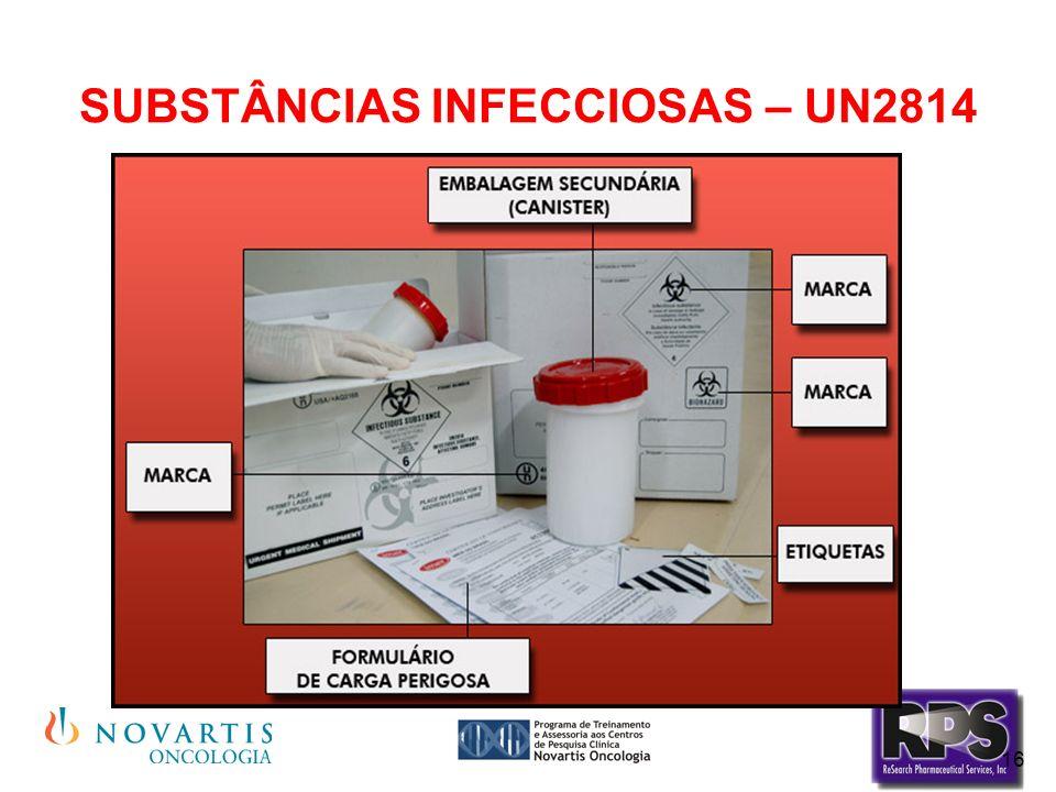 16 SUBSTÂNCIAS INFECCIOSAS – UN2814