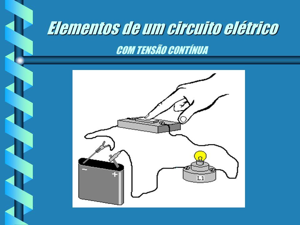 Elementos de um circuito elétrico Elementos de um circuito elétrico Tensão elétrica: É a diferença de potencial elétrica entre dois pontos, capaz de p
