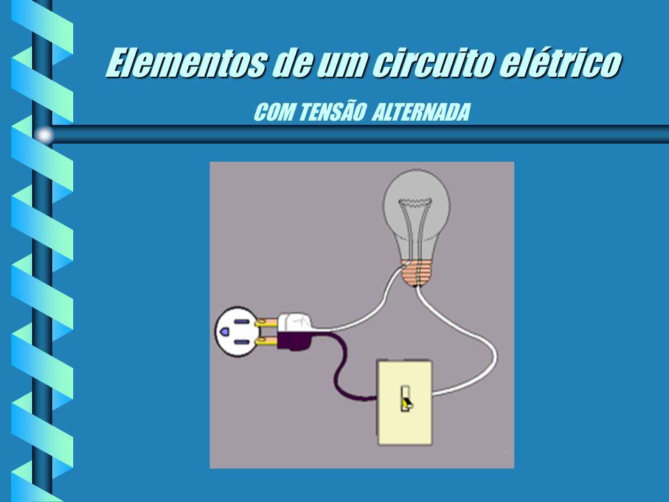 Elementos de um circuito elétrico Elementos de um circuito elétrico COM TENSÃO CONTÍNUA