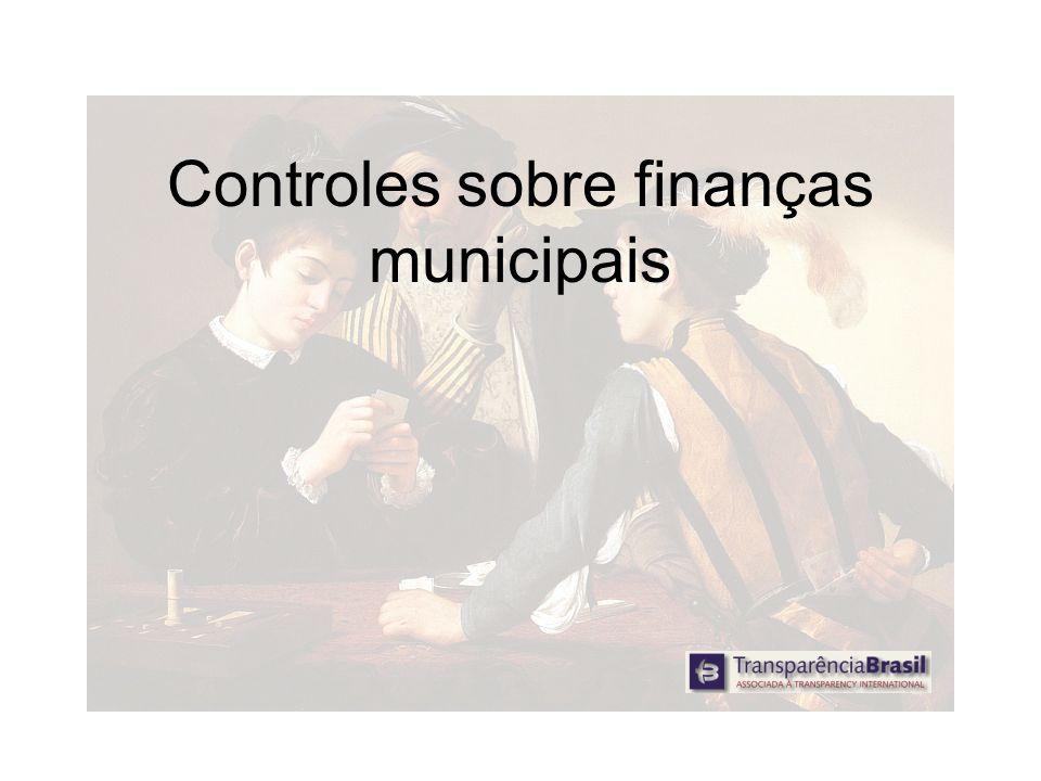 Controles sobre finanças municipais