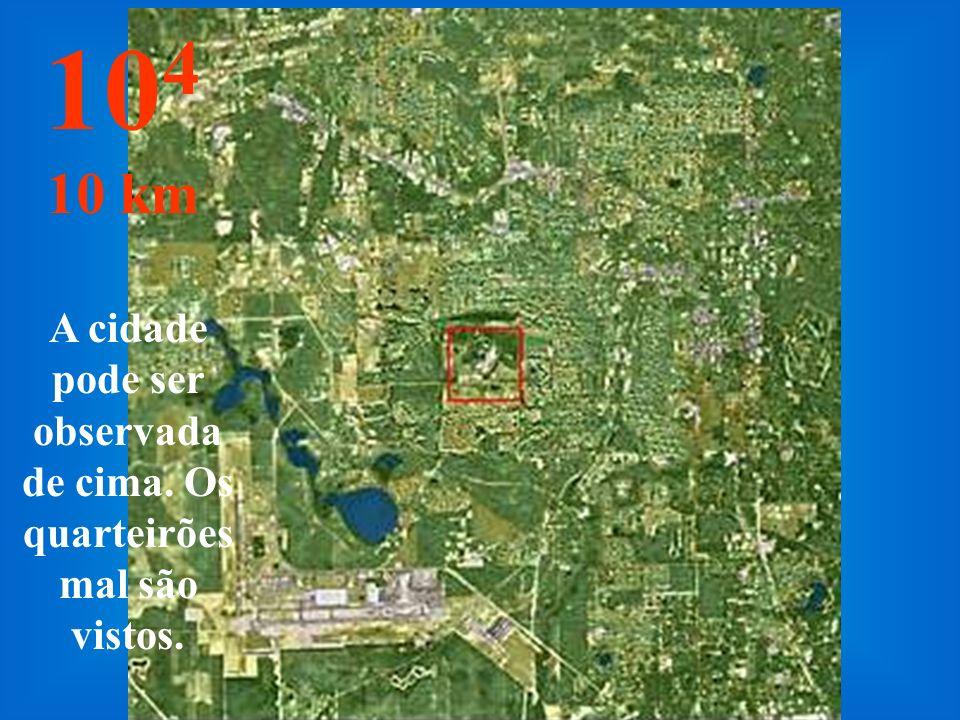 Aqui mudamos de metro para km... Já é possível saltar de pára- quedas... 10 3 1 km
