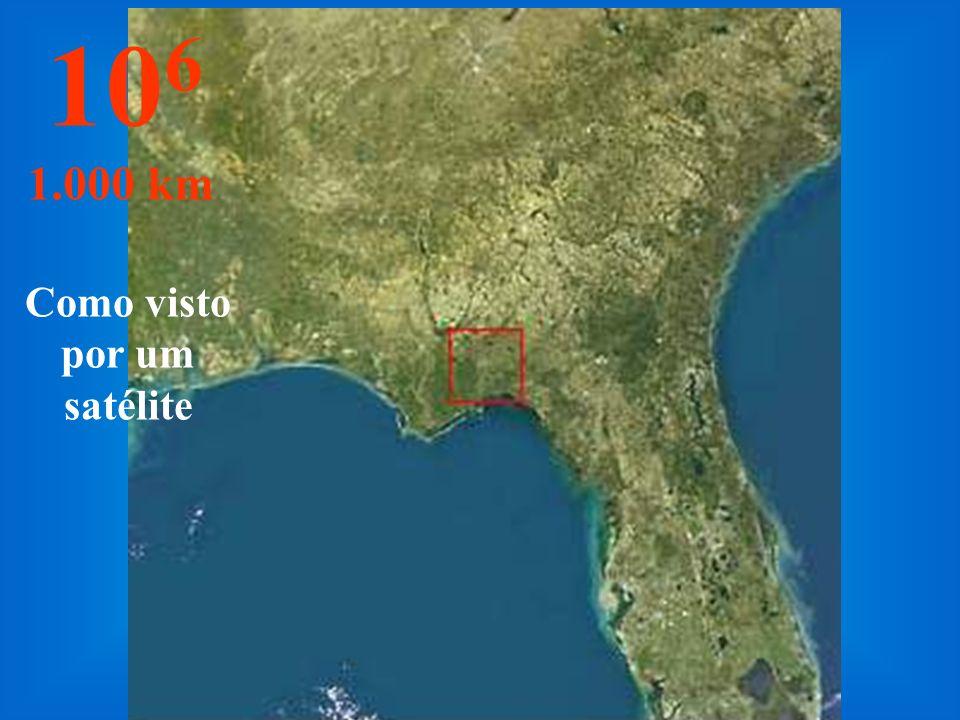Nesta altura o estado da Flórida - USA, pode ser visto por completo... 10 5 100 km