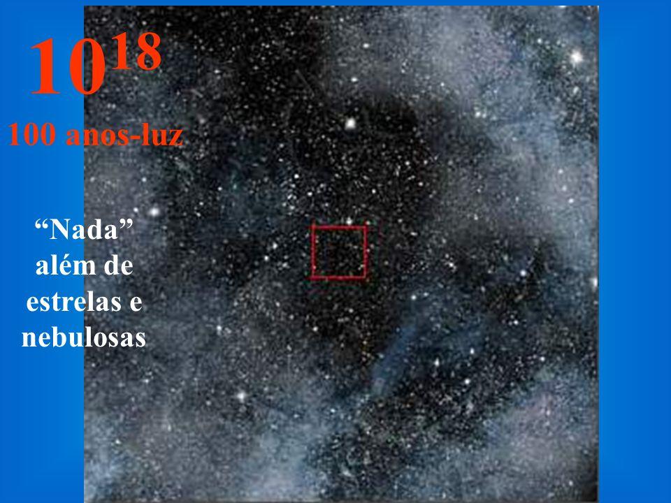 Aqui só vemos estrelas no infinito... 10 17 10 anos-luz