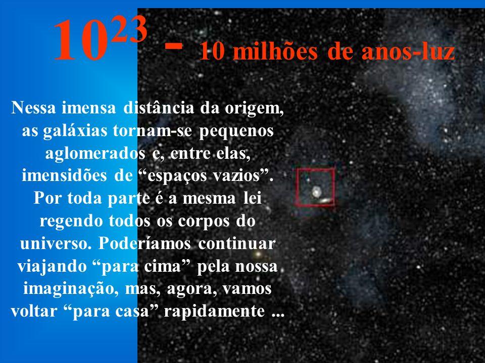 Nessa imensa distância podemos ver toda a Via- Láctea e também outras galáxias...