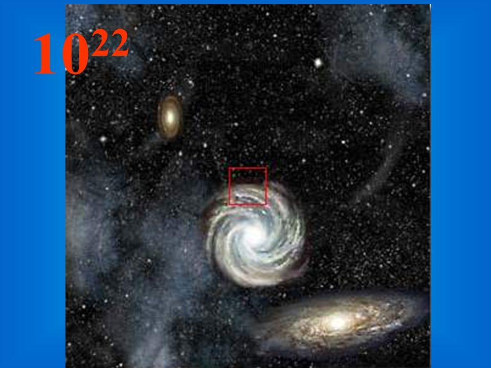 Nessa imensa distância da origem, as galáxias tornam-se pequenos aglomerados e, entre elas, imensidões de espaços vazios.