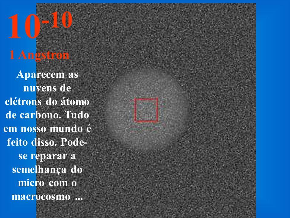 Os blocos cromossômicos podem ser estudados. 10 -9 10 Angstrons
