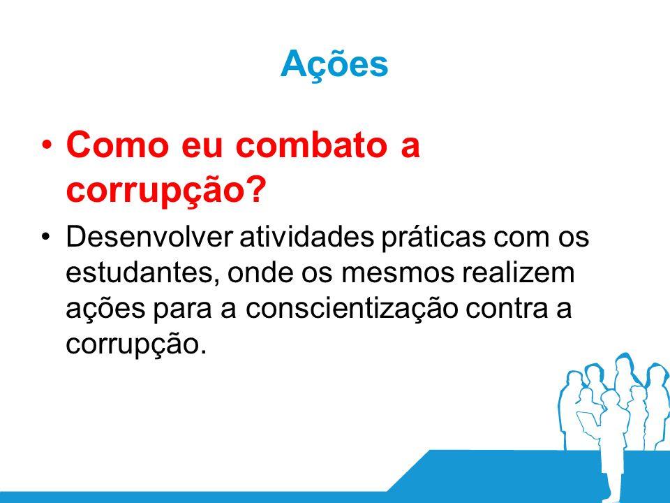 Ações Como eu combato a corrupção.
