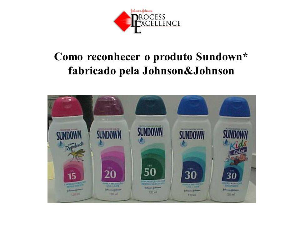 Como reconhecer o produto Sundown* fabricado pela Johnson&Johnson