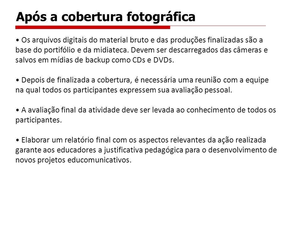 Após a cobertura fotográfica Os arquivos digitais do material bruto e das produções finalizadas são a base do portifólio e da midiateca.