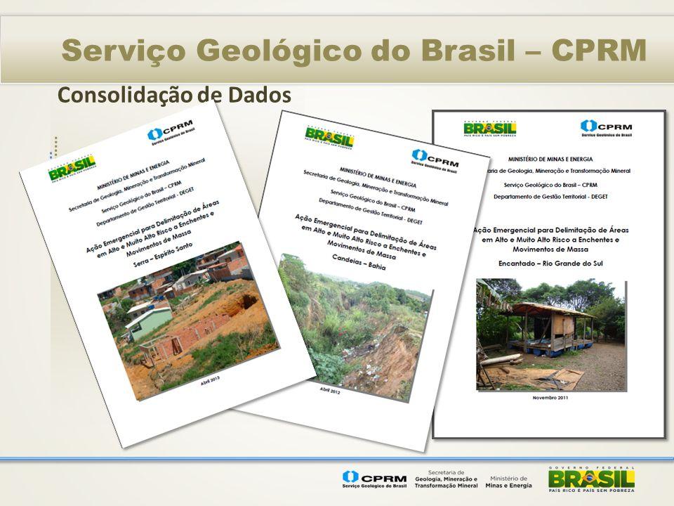 Consolidação de Dados Serviço Geológico do Brasil – CPRM