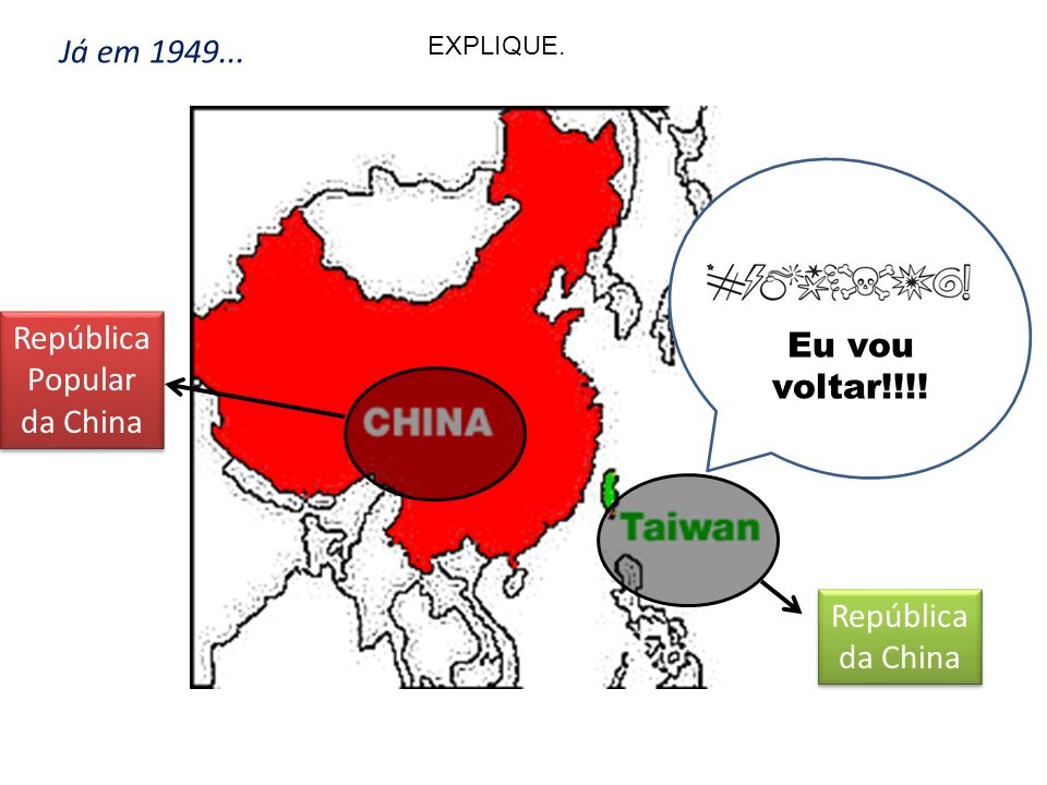 República Popular da China República da China Eu vou voltar!!!! Já em 1949... EXPLIQUE.