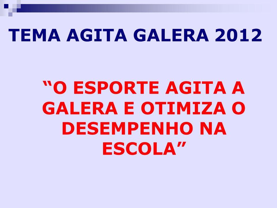 TEMA AGITA GALERA 2012 O ESPORTE AGITA A GALERA E OTIMIZA O DESEMPENHO NA ESCOLA