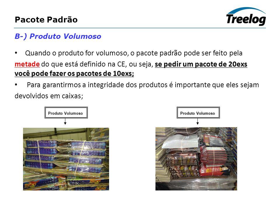 Pacote Padrão B-) Produto Volumoso Quando o produto for volumoso, o pacote padrão pode ser feito pela se pedir um pacote de 20exs você pode fazer os p