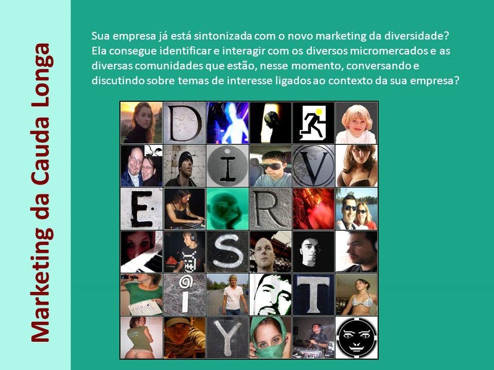 Marketing da Cauda Longa Sua empresa já está sintonizada com o novo marketing da diversidade? Ela consegue identificar e interagir com os diversos mic