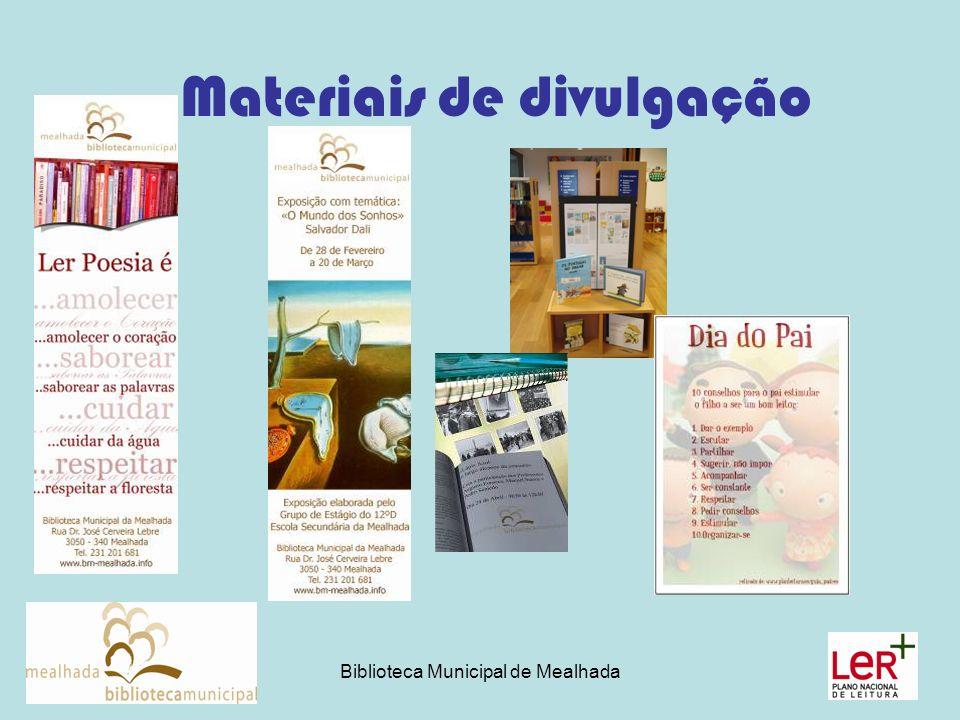 Biblioteca Municipal de Mealhada Materiais de divulgação