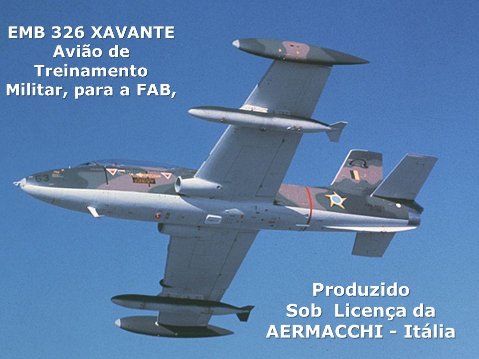 EMB 326 XAVANTE Avião de Treinamento Militar, para a FAB, Produzido Sob Licença da AERMACCHI - Itália