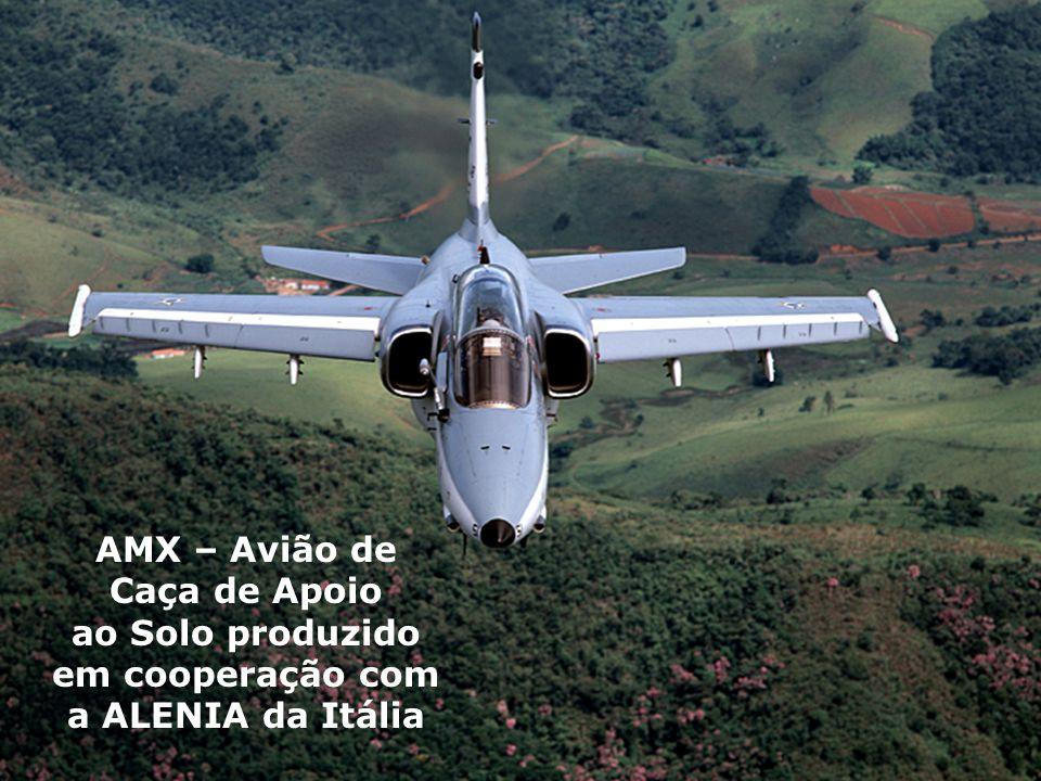 AMX – Avião de Caça de Apoio ao Solo produzido em cooperação com a ALENIA da Itália