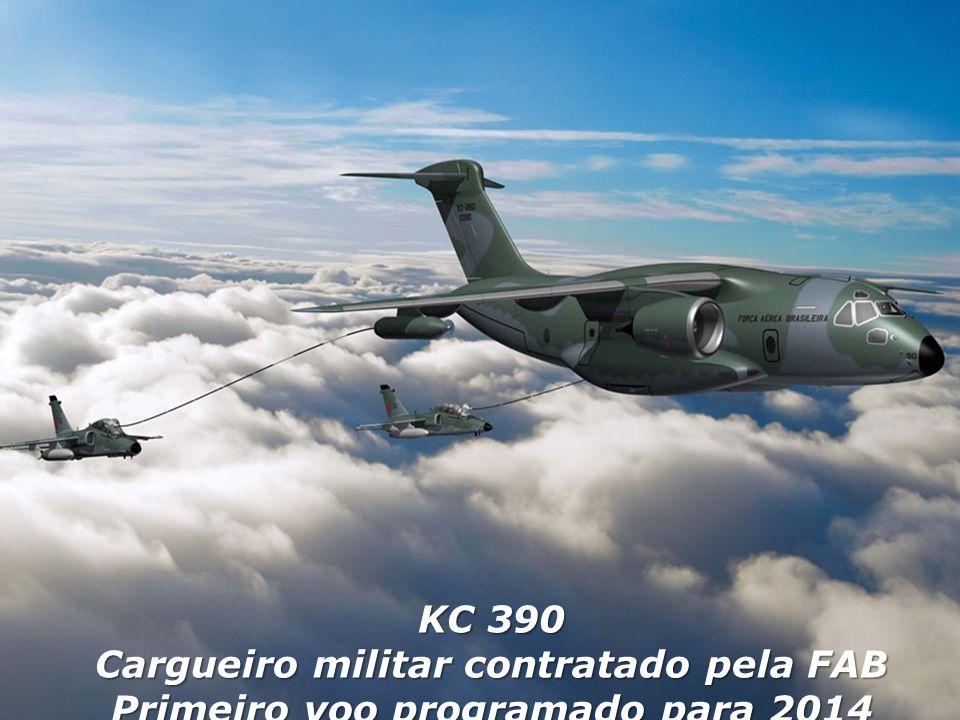 KC 390 Cargueiro militar contratado pela FAB Primeiro voo programado para 2014