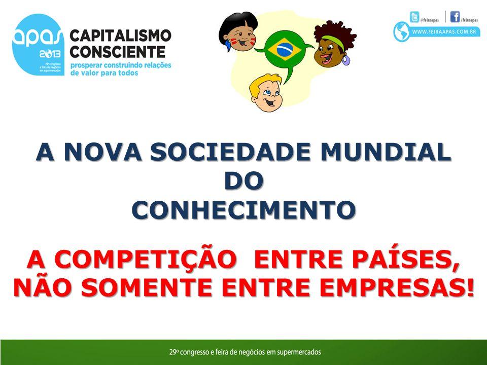 A NOVA SOCIEDADE MUNDIAL DO CONHECIMENTO A COMPETIÇÃO ENTRE PAÍSES, NÃO SOMENTE ENTRE EMPRESAS!