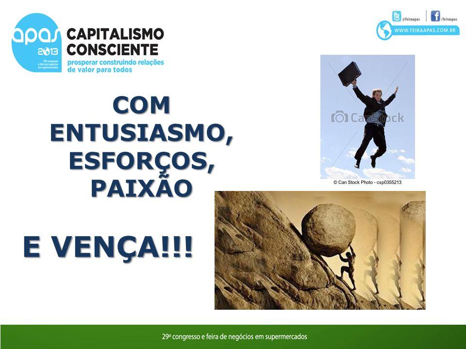 COM ENTUSIASMO, ESFORÇOS, PAIXÃO E VENÇA!!!