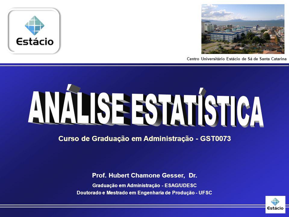 Curso de Graduação em Administração - GST0073 Prof.