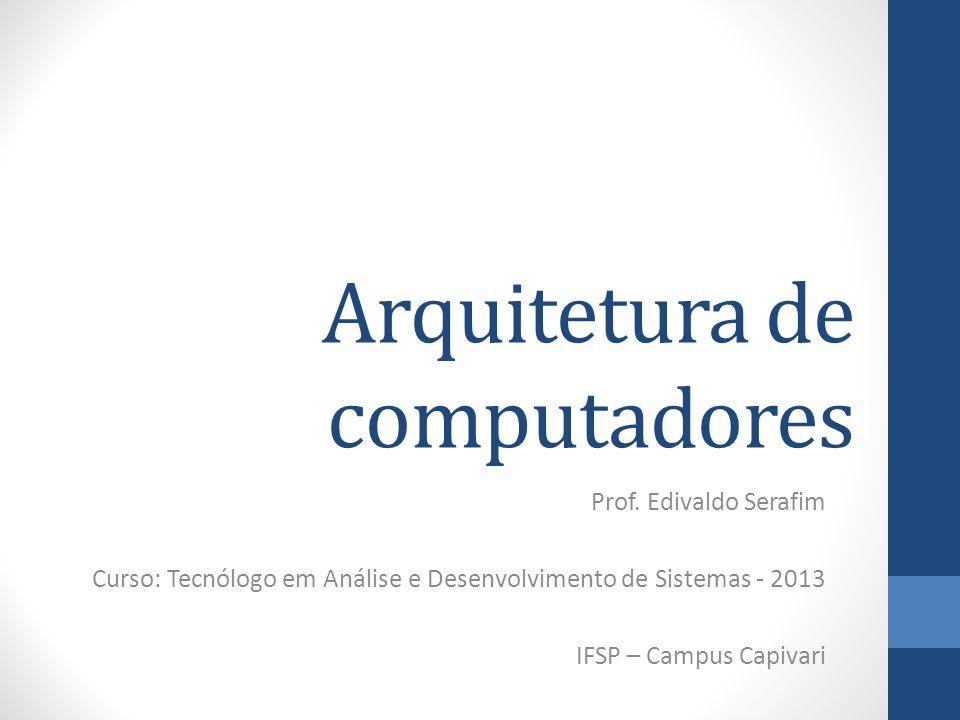 Fitas magnéticas Prof. Edivaldo Serafim - Arquitetura de Computadores - IFSP 2013 52