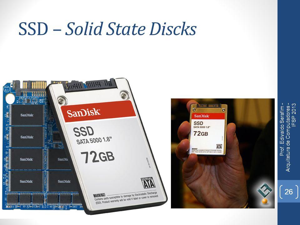 SSD – Solid State Discks Prof. Edivaldo Serafim - Arquitetura de Computadores - IFSP 2013 26