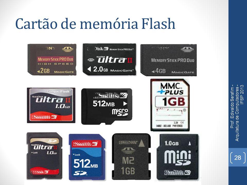 Cartão de memória Flash Prof. Edivaldo Serafim - Arquitetura de Computadores - IFSP 2013 28