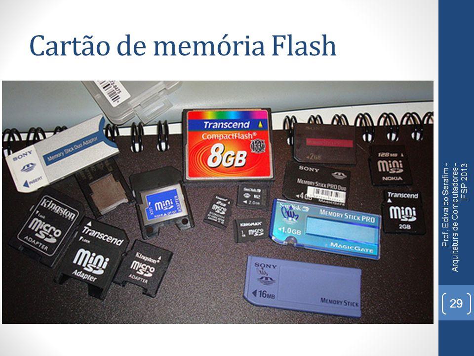 Cartão de memória Flash Prof. Edivaldo Serafim - Arquitetura de Computadores - IFSP 2013 29