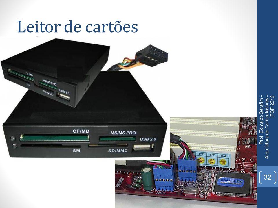 Leitor de cartões Prof. Edivaldo Serafim - Arquitetura de Computadores - IFSP 2013 32
