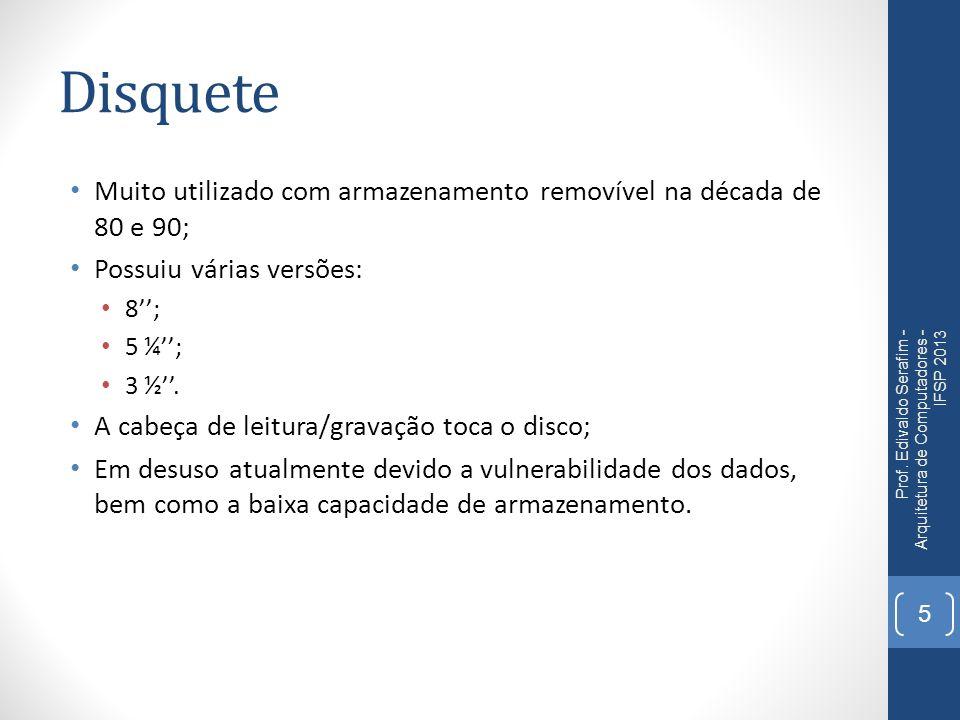 Mídias óticas - Funcionamento Prof. Edivaldo Serafim - Arquitetura de Computadores - IFSP 2013 36
