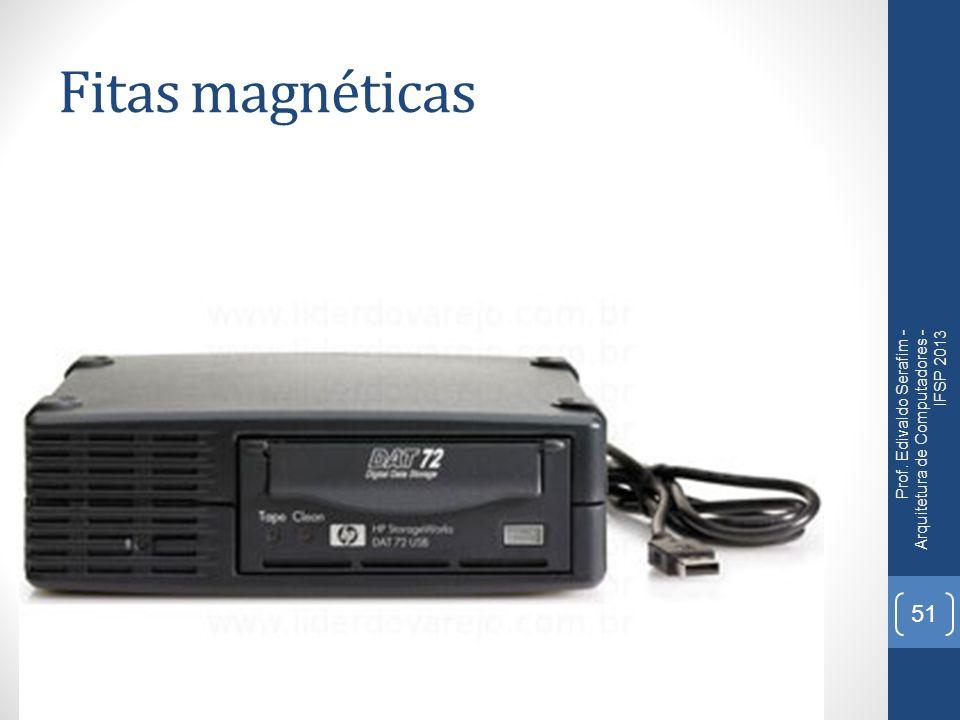 Fitas magnéticas Prof. Edivaldo Serafim - Arquitetura de Computadores - IFSP 2013 51