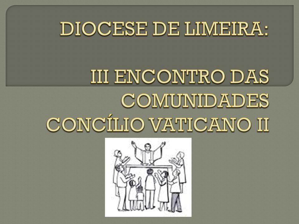 - Constituições dogmáticas: - Sacrosanctum Concilium: 04/12/1963 - Lumen Gentium: 21/11/1964 - Dei Verbum: 18/11/1965 - Gaudium et Spes: 07/12/1965