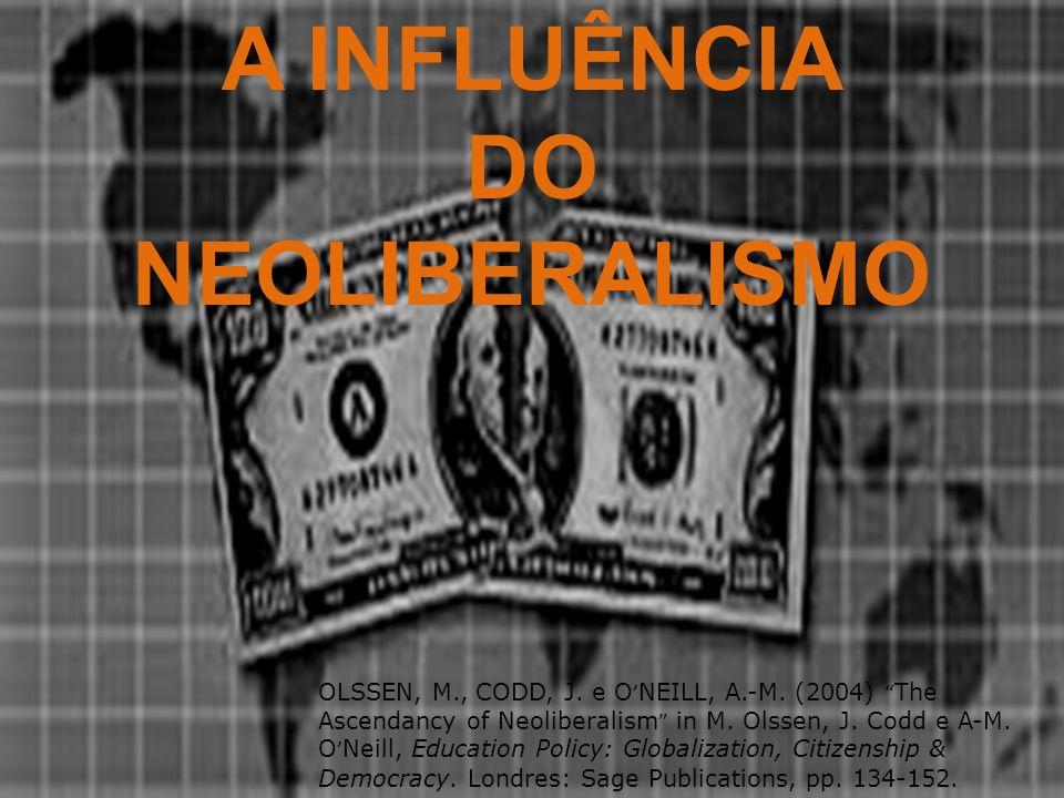 A INFLUÊNCIA DO NEOLIBERALISMO OLSSEN, M., CODD, J.