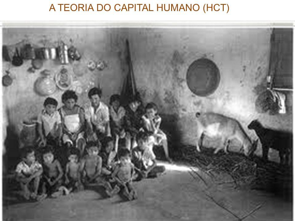educação : bem privado e bem público. distinção interna na HCT taxa privada e as taxas sociais de retorno Como um bem privado, educação é vista como u